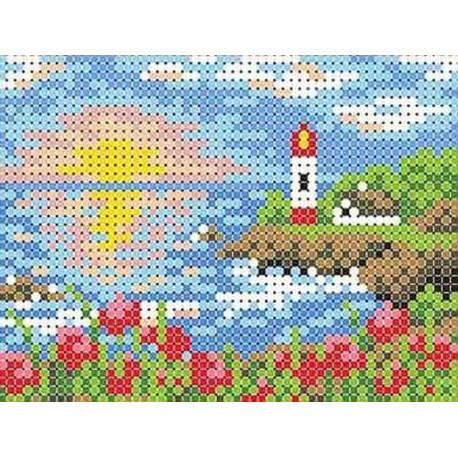 Лазурный берег Канва с рисунком для вышивки бисером
