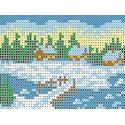 Зима Канва с рисунком для вышивки бисером
