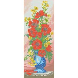 Цветы Канва с рисунком для вышивки бисером