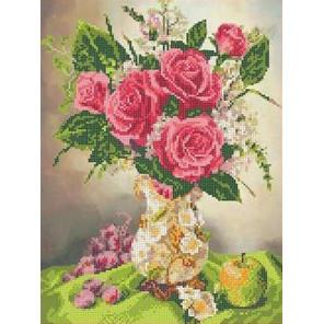 Роза в вазе Канва с рисунком для вышивки бисером