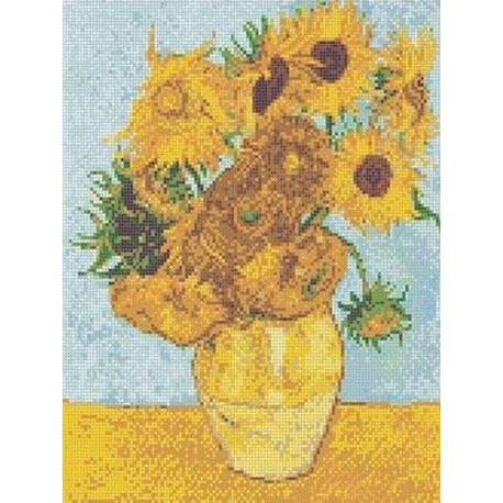 Ван Гог. Ваза с подсолнухами Канва с рисунком для вышивки бисером