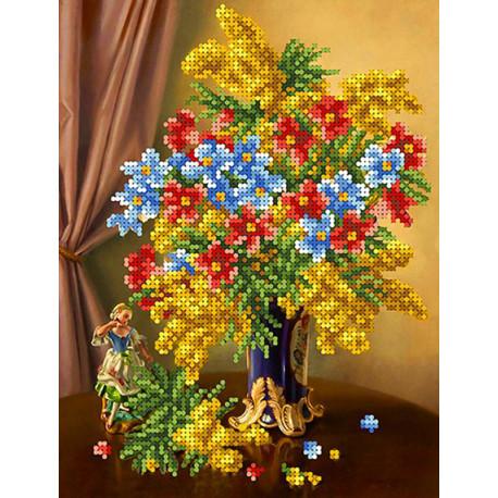 Весеннее цветение Канва с рисунком для вышивки бисером