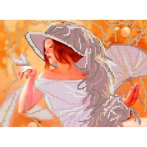 Девушка с веером Канва с рисунком для вышивки бисером