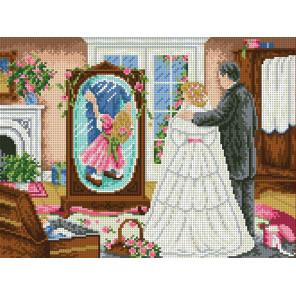 Дочь глазами отца Канва с рисунком для вышивки бисером
