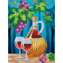 Вино Канва с рисунком для вышивки бисером