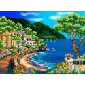 Южный берег Канва с рисунком для вышивки бисером