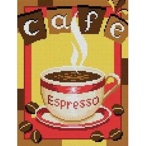 Чашка кофе Канва с рисунком для вышивки бисером