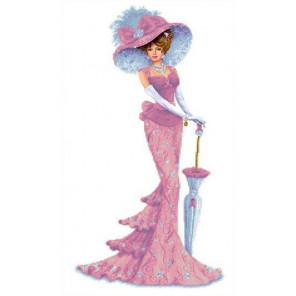 Дама с зонтиком Канва с рисунком для вышивки бисером