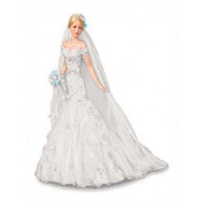 Невеста Канва с рисунком для вышивки бисером