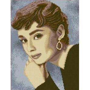 Одри Хепбер Канва с рисунком для вышивки бисером