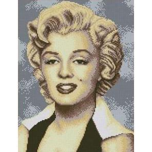 Мерилин Монро Канва с рисунком для вышивки бисером