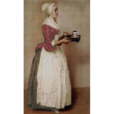 Шоколадница Канва с рисунком для вышивки бисером