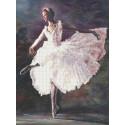 Балерина Канва с рисунком для вышивки бисером