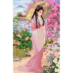 Прогулка в саду Канва с рисунком для вышивки бисером