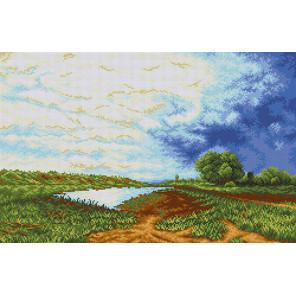 Мокрый луг Канва с рисунком для вышивки бисером