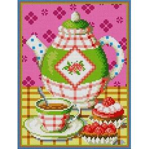 Чаепитие Канва с рисунком для вышивки бисером