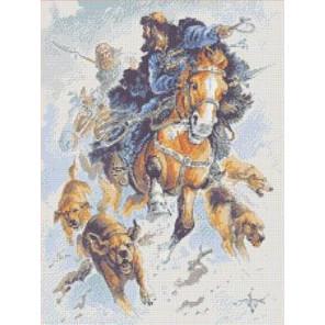 Охота Канва с рисунком для вышивки бисером