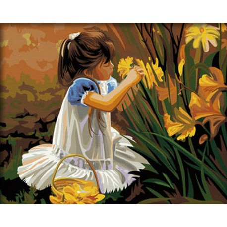 Цветы для мамы Раскраска по номерам на холсте Menglei ...