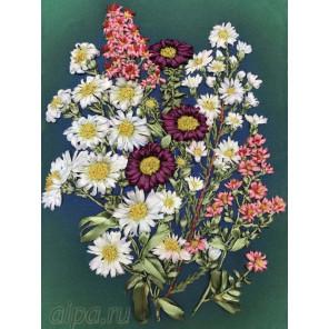 Полевые цветы Набор для вышивки лентами