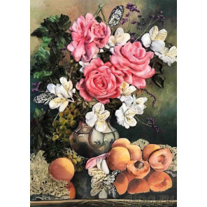 Розы с фруктами Набор для вышивки лентами