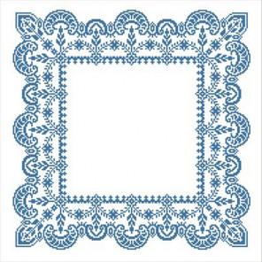 Зимняя сказка Набор для вышивания салфетки Каролинка