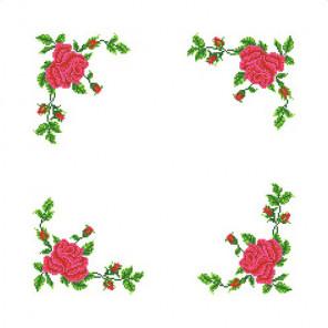 Розы Набор для вышивания салфетки Каролинка