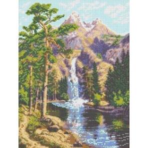 Горный водопад Канва с рисунком для вышивки Каролинка