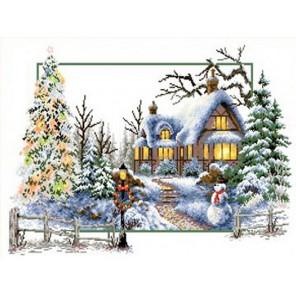 Зимняя сказка Канва с рисунком для вышивки Каролинка