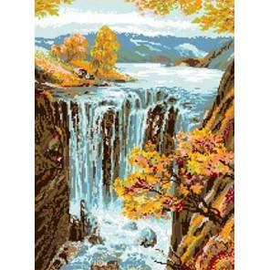Водопад Канва с рисунком для вышивки Каролинка