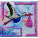 Метрика для девочки Набор для вышивки бисером FeDi