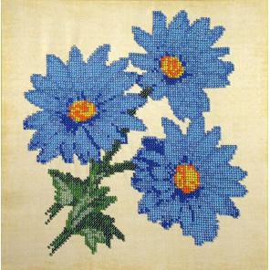 Голубые ромашки Набор для вышивки бисером FeDi