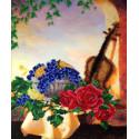 Скрипка Набор для вышивки бисером FeDi