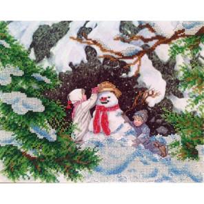 Зимние забавы Набор для вышивки бисером FeDi