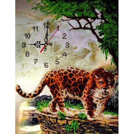 Часы с леопардом Набор для вышивки бисером FeDi