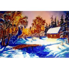 Зимний вечер Набор для вышивки бисером FeDi