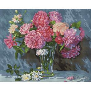 Букет розовых пионовАлмазная мозаика вышивка Painting Diamond