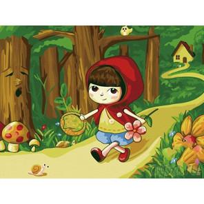 Красная шапочка Раскраска картина по номерам на холсте