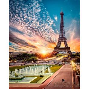 Эйфелева башня Раскраска картина по номерам на холсте