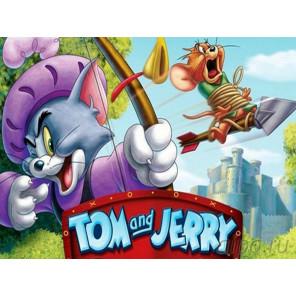 Том и Джерри Робин Гуд Раскраска картина по номерам на холсте