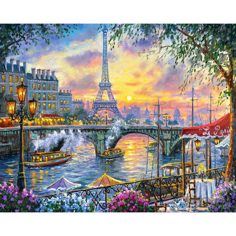 GX27372 Париж на закате Раскраска картина по номерам на ...