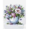 Нежные цветы в белой вазе Раскраска картина по номерам на холсте MG2102
