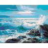Голубые волны Раскраска картина по номерам на холсте KTMK-606671