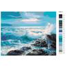 раскладка Голубые волны Раскраска картина по номерам на холсте
