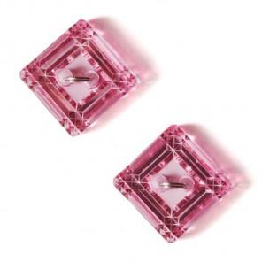 Ромбы розовые Пуговицы декоративные Button Fashion