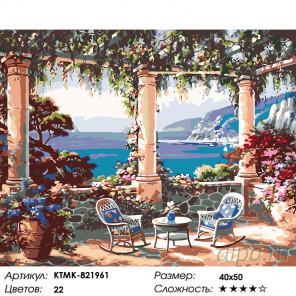 Количество цветов и сложность Вид на морские дали Раскраска картина по номерам на холсте KTMK-821961