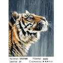 Тигр под дождем Раскраска картина по номерам на холсте