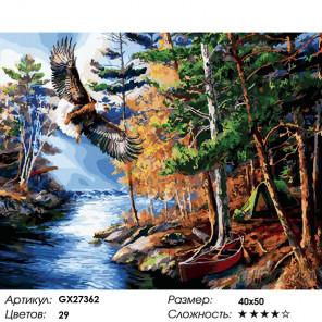 Орел над речкой Раскраска картина по номерам на холсте GX27362
