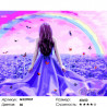 Количество цветов и сложность Радуга над морем Раскраска картина по номерам на холсте GX27037