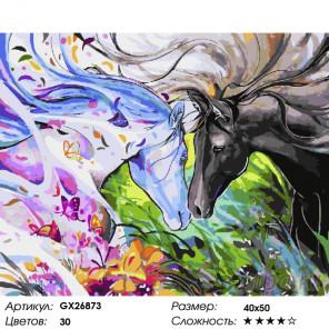 Количество цветов и сложность Акварельная лошадь Раскраска картина по номерам на холсте GX26873