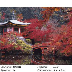 Количество цветов и сложность Осень в Японии Раскраска картина по номерам на холсте GX3828